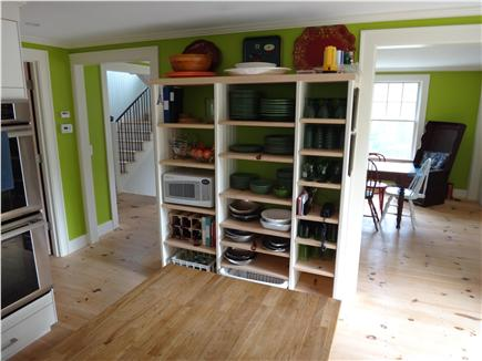 South Truro Cape Cod vacation rental - Green-themed tableware for this well-equipped kitchen.