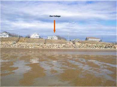 Eastham Cape Cod vacation rental - A walk on the beach and view of the cottage at low tide