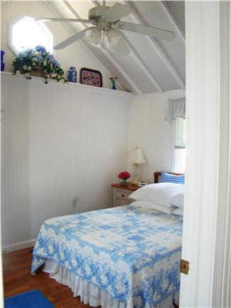 Eastham Cape Cod vacation rental - Bedroom with cathedral ceiling and fan