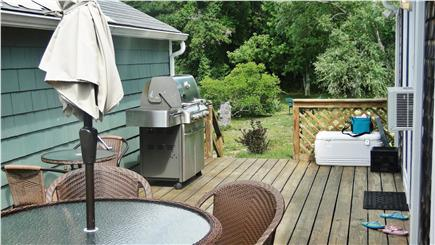 Dennis Port Cape Cod vacation rental - View of back yard from the deck