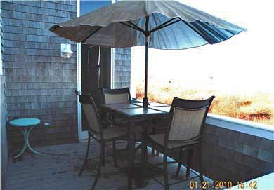 Truro Cape Cod vacation rental - Deck with a view~Umbrella for sun protection!