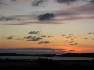 Truro Cape Cod vacation rental - Sunset from Master Bedroom, Living Room and Deck