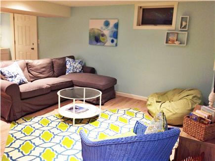 Harwich Cape Cod vacation rental - Kids space with TV viewing area, air hockey table & craft corner