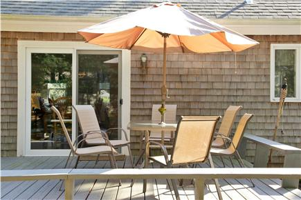 Eastham Cape Cod vacation rental - Relax on the back deck