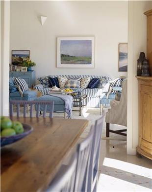 Wellfleet Cape Cod vacation rental - Kitchen and Living Area with french doors