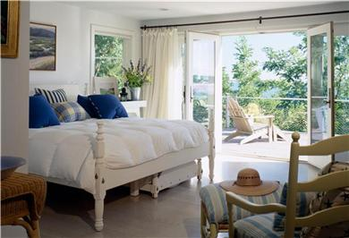 Wellfleet Cape Cod vacation rental - Master Bedroom opens right to the Sea