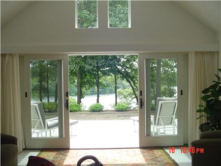 East Falmouth Cape Cod vacation rental - View of the Lake from Living Room