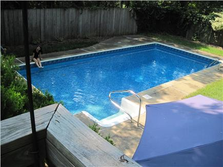 East Orleans Cape Cod vacation rental - Inground pool, privacy fence, looking from 1st floor deck