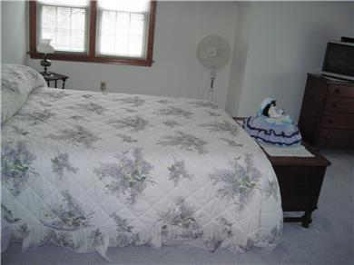 East Orleans Cape Cod vacation rental - 2nd floor bedroom with queen bed, TV, direct access to bathroom