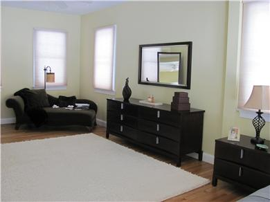 North Falmouth Cape Cod vacation rental - Chaise lounge area in master bedroom, California closets