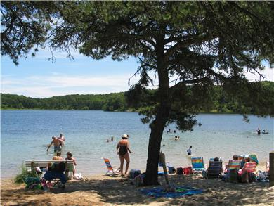 Chatham Cape Cod vacation rental - Favorite Fresh Water Pond about 1.5 miles From House