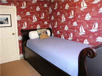 Falmouth Cape Cod vacation rental - Sleigh bed in one of the beautifully  decorated bedrooms