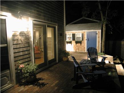 South Wellfleet Cape Cod vacation rental - Nighttime outside Queen bedroom.