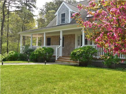 East Orleans Cape Cod vacation rental - Front yard in May