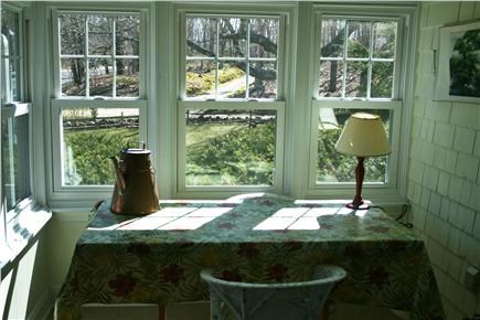 Dennis Cape Cod vacation rental - View from the indoor porch at dusk