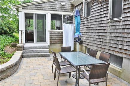 Chatham Cape Cod vacation rental - Outdoor dining and shower area