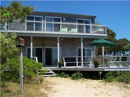 Lieutenant Island, Wellfleet Cape Cod vacation rental - Exterior view of enlarged first floor and deck