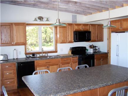 Lieutenant Island, Wellfleet Cape Cod vacation rental - Large open kitchen w/eight-seat island