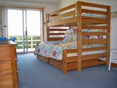 Lieutenant Island, Wellfleet Cape Cod vacation rental - 2nd floor bunk room (double w/ twin on top)