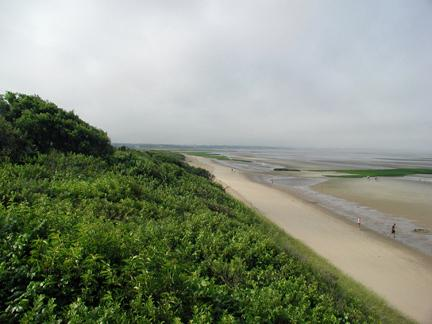 Eastham Cape Cod vacation rental - Looking South from staircase to beach