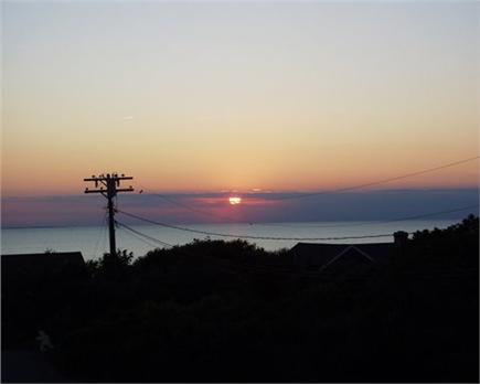 Eastham Cape Cod vacation rental - Sunset over First Encounter Beach (from roof deck)