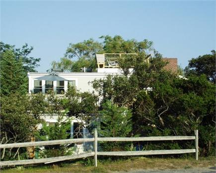 Eastham Cape Cod vacation rental - Back (west side) of house