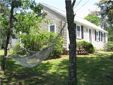 South Chatham - Forest Beach Cape Cod vacation rental - Hammock in a quite shady spot