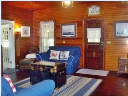 West Harwich Cape Cod vacation rental - White framed door leads to enclosed porch
