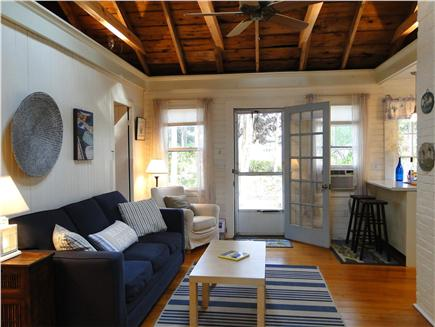West Dennis Cape Cod vacation rental - Light & airy living room w/ comfortable queen sleep sofa