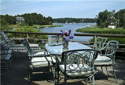 Orleans Cape Cod vacation rental - View up the river from the table on the deck