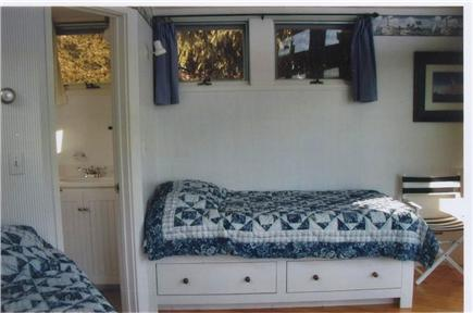 Orleans Cape Cod vacation rental - One of the twin bedrooms and bathroom beyond