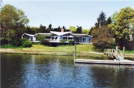 Orleans Cape Cod vacation rental - View of the house and dock from the river