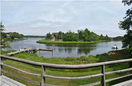 Orleans Cape Cod vacation rental - A panoramic of the vew from the deck - distorted by the camera