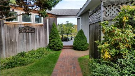 Orleans Cape Cod vacation rental - Welcome aboard  - walkway onto the deck from the drive