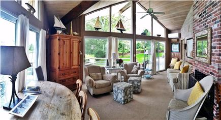 Orleans Cape Cod vacation rental - The great room - living room and dining area