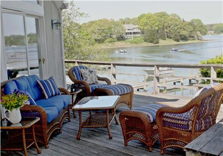 Orleans Cape Cod vacation rental - View from part of the deck showing waterview and furniture