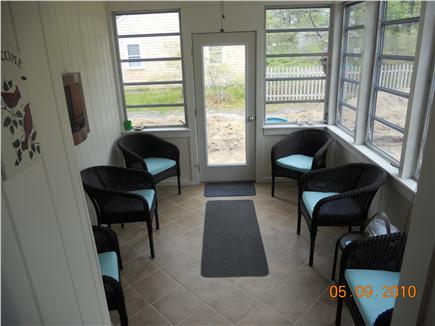 West Yarmouth Cape Cod vacation rental - Porch with seating for 6 with louvered and screened windows