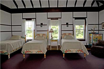 Orleans Cape Cod vacation rental - Triple bedroom, lovely hand painted furniture, opens to porch
