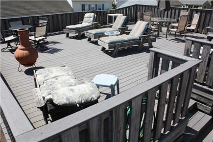 Wellfleet Cape Cod vacation rental - Lower deck from entrance