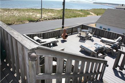 Wellfleet Cape Cod vacation rental - View of lower deck from upper deck