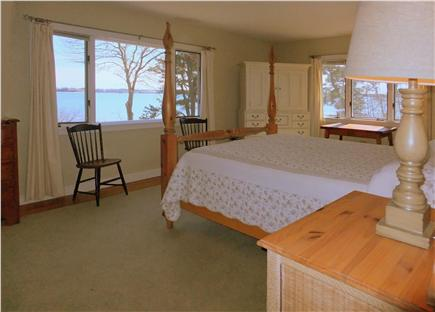 Orleans Cape Cod vacation rental - Master bedroom with views to the Bay