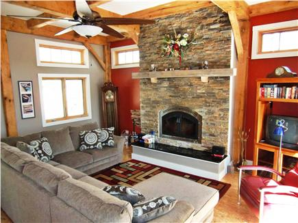 9 Pond Road, Orleans Cape Cod vacation rental - Great Room - facing the deck and the lake beyond-main level