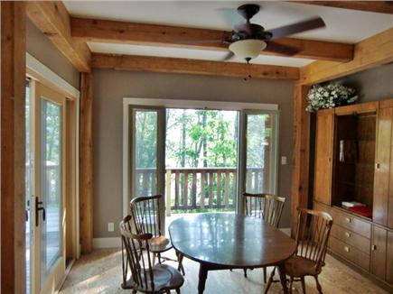 9 Pond Road, Orleans Cape Cod vacation rental - Dining Room - from the kitchen, facing the lake-main level
