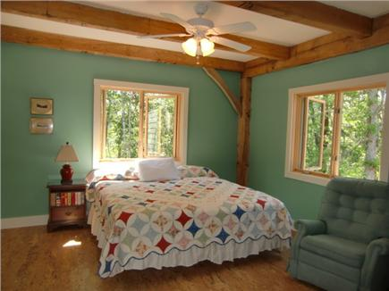 9 Pond Road, Orleans Cape Cod vacation rental - Master bed - King bed shown - top level (optional - 3 XL twins)
