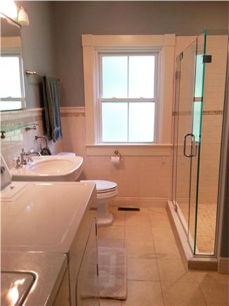 Woods Hole Woods Hole vacation rental - Revised main bath has easy entry shower; convenient washer/drier