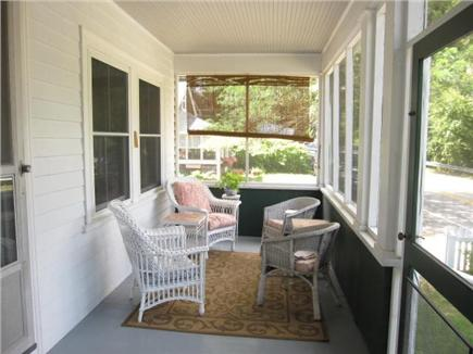 Woods Hole Woods Hole vacation rental - Here is half of screened front porch, great for afternoon sun.