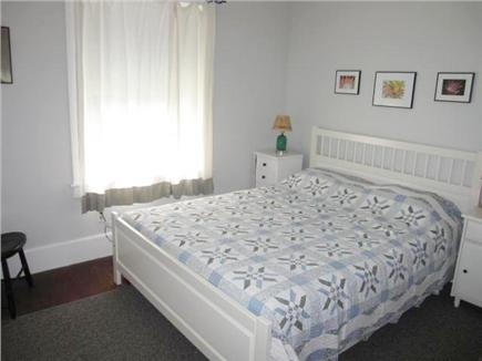 Woods Hole Woods Hole vacation rental - Downstairs bedroom with queen bed looks out of back of house.