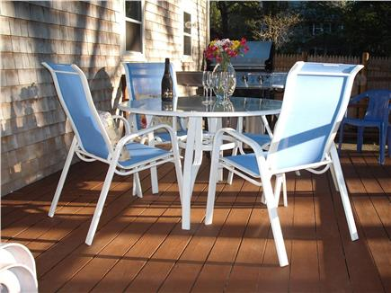 Centerville, Barnstable Centerville vacation rental - Large Deck table with extra chairs