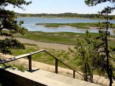South Wellfleet Cape Cod vacation rental - View of mid-tide from the deck