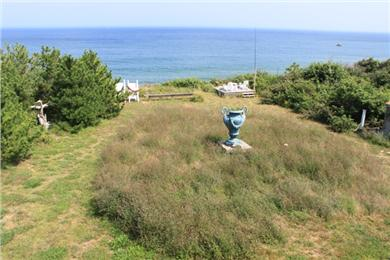 Eastham Cape Cod vacation rental - Overlooking the lawn, the lower deck and, of course, the Ocean.